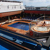 Here's the adult pool at the back of the ship