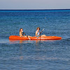 Jen and Bayley ocean kyaking