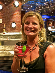Judy at our favorite bar - The Lanai