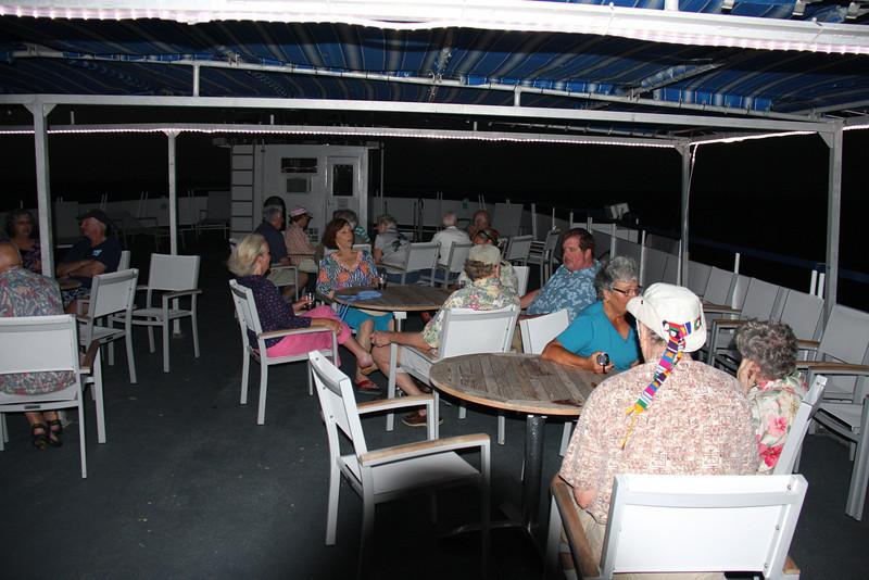 Top deck socializing