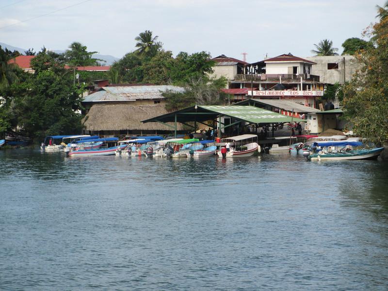 Community on the Rio Dulce near Castille San Felipe