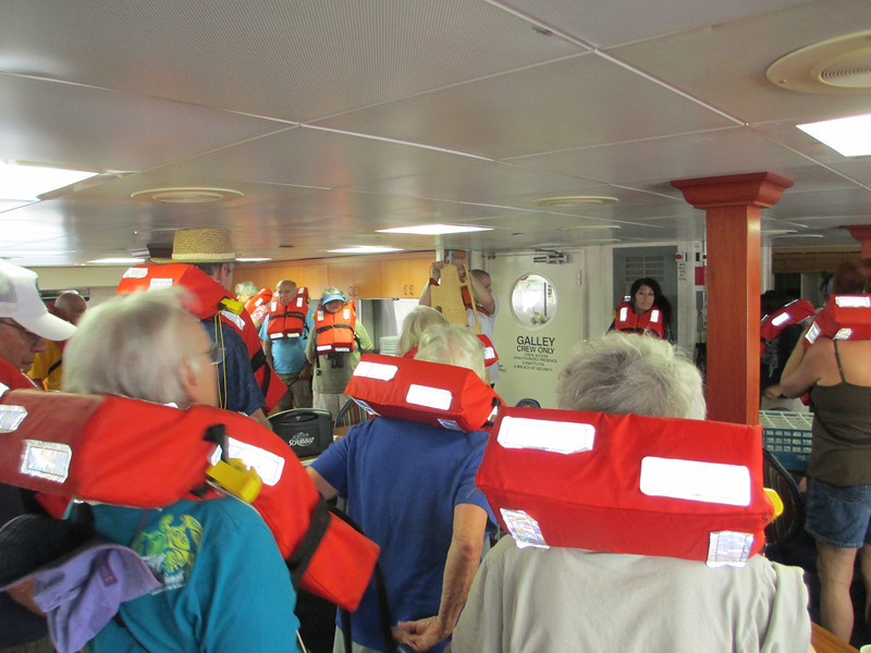 Passenger safety was serious business on board the Grande Mariner. We went through a full fire drill ... unannounced ... in which all pasengers and crew participated. Such care was much appreciated!