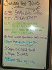 Our meal and shore trip schedule was posted daily.
