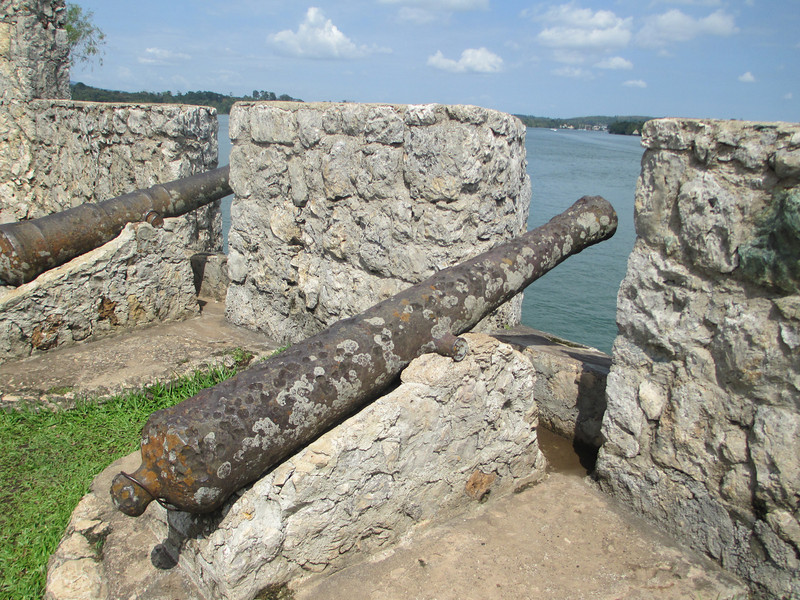 While the Castillo is largely a reconstruction, these Spanish cannon were pulled out of the sea.