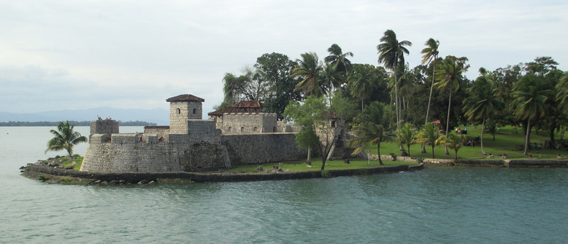 Picture book castle... San Felipe on Lake Isabel and the Rio Dulce. The fort was built to protect Spanish warehouses which lined Lake Isabel. Sailing ships arrived via the Rio Dulce... as might Pirates planning to plunder the Spanish freight ships.