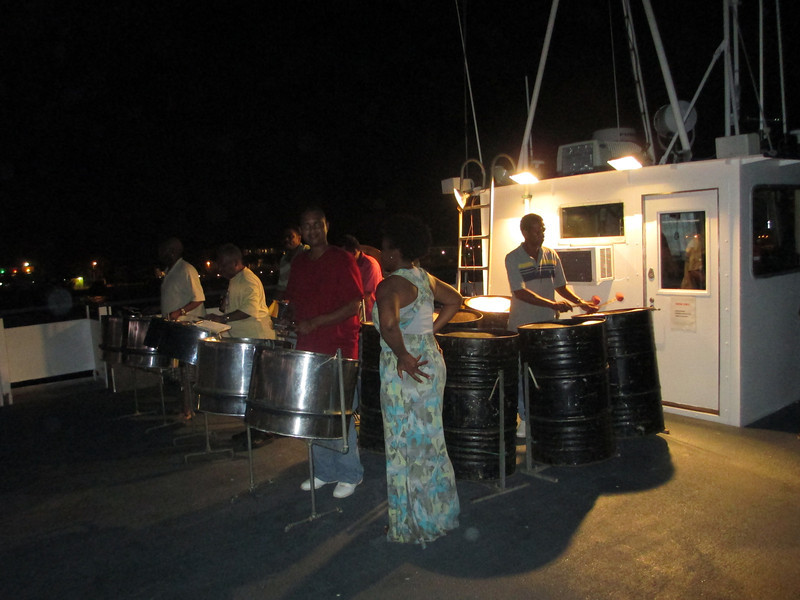 Throughoutt the cruise, local entertainers would come on board. Here we had a steel drums performance.