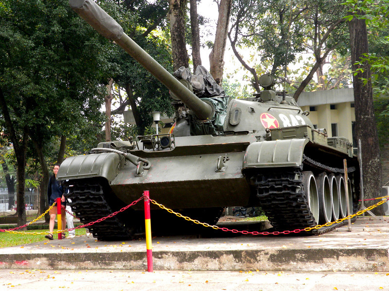 Ho Chih Minh City, Vietnam - This was the second tank that entered the Presidential Palace compound.