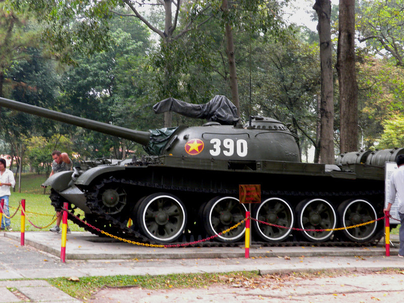 Ho Chih Minh City, Vietnam - This tank crashed the gate to enter the Presidential Palace (now called Independence Palace) compound, thus symbolically ending the Vietnam War.