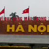 "Hanoi, Vietnam - on the other side of the Ho Chih Minh Memorial is the modern name, Hanoi (""Inside the River,"" 河內)"