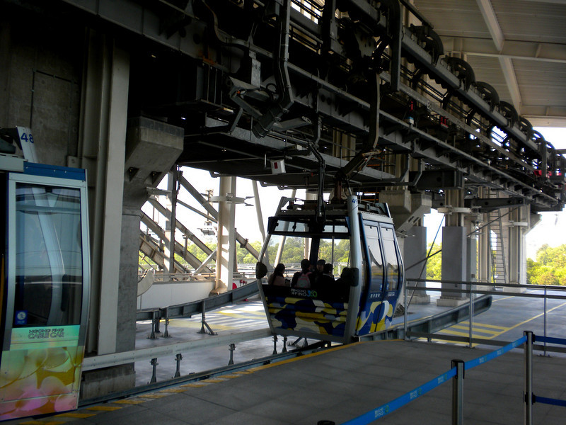 Hong Kong, China - cable car terminal at Tung Chung (東涌)