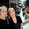 Bangkok, Thailand - Peter and Beverly at the water market near Bangkok