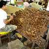 Bangkok, Thailand - a master wood carver at work