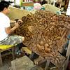 Bangkok, Thailand - a master wood carver at work