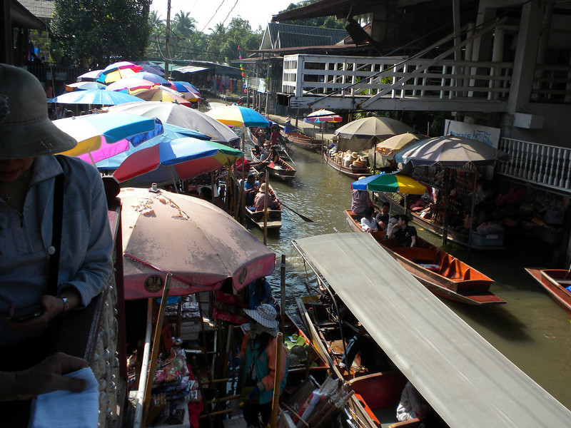 Bangkok, Thailand - water market near Bangkok