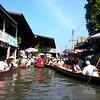 Bangkok, Thailand - another view of the water market near Bangkok