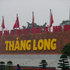 "Hanoi, Vietnam - a sign by the Ho Chih Minh Memorial, showing the old name of Hanoi, Thang Long (""Ascending Dragon,"" 騰龍)"