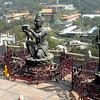 Hong Kong, China - a scene at the Po Lin Buddhist Temple