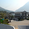 Hong Kong, China - Ngong Ping Village, at the mountain end of the cable car ride