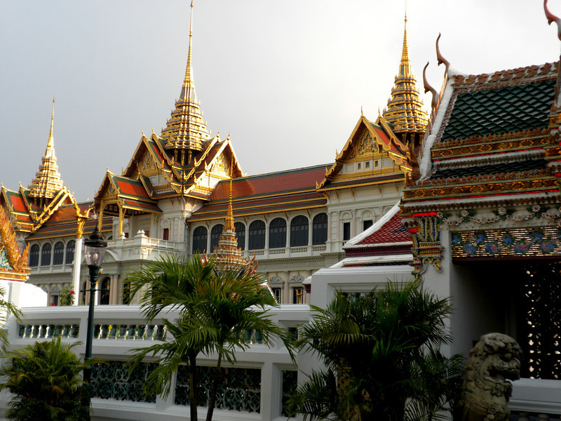 Bangkok, Thailand - another view of sunset light on the golden roofs