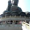 Hong Kong, China - the Big Buddha Statue at Po Lin Buddhist Temple