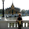 Bangkok - The summer palace near Bangkok at Bang Pa-In.  This campus features both French-style and Thai-style architecture.