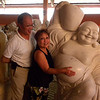 Danang, Vietnam - Peter and Beverly on the ground of a marble carving studio