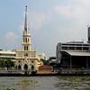 Bangkog, Thailand - Tthe Holy Rosary Church viewed from the river