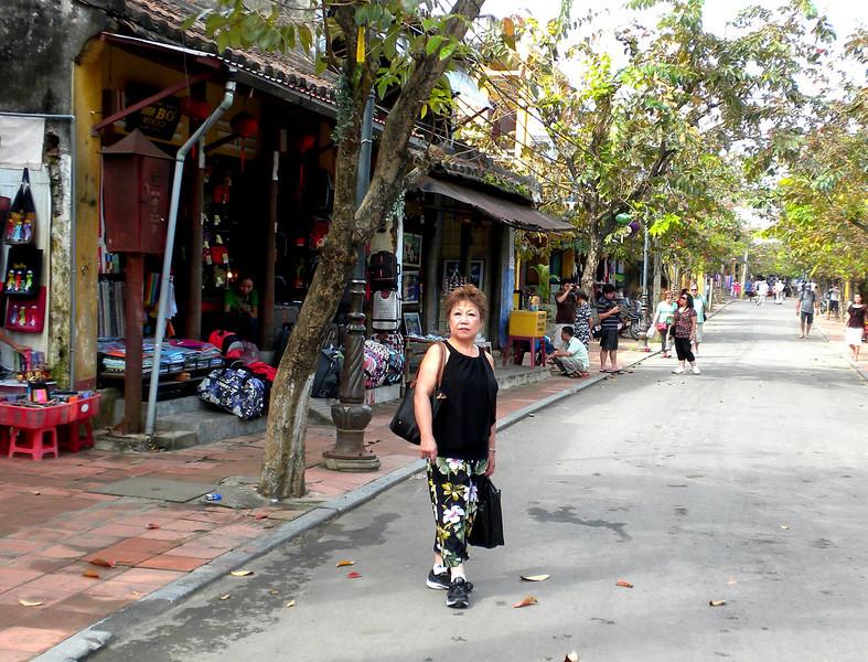 Hoi An, Vietnam - Beverly on a street