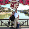Hoi An, Vietnam - Peter and Beverly on the bridge over the river