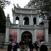 Hanoi, Vietnam - Entrance to the preserved site of an ancient university, dating back to when Vietnam was a vassal state of China and when Chinese writing was used