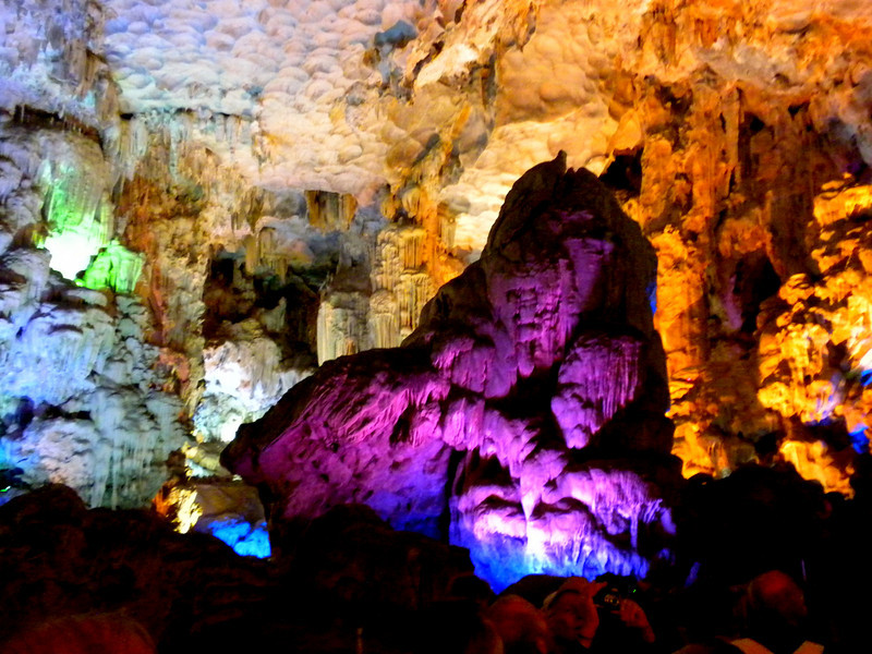 """Halong Bay (""""Descended Dragon Bay,""""  下龍灣), Vietnam - a cave on one of the islets"""