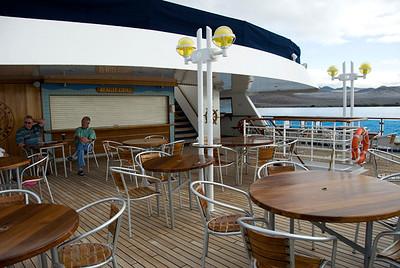 Galapagos Trip - Galapagos, Floreana Island, Cormorant Point<br /> Xpedition, Beagle Grill Area