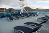 Galapagos Trip - Galapagos, Floreana Island, Cormorant Point<br /> Xpedition, deck 6 bow lounging area
