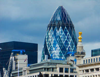 "The ""Gerkin pickle"" building"
