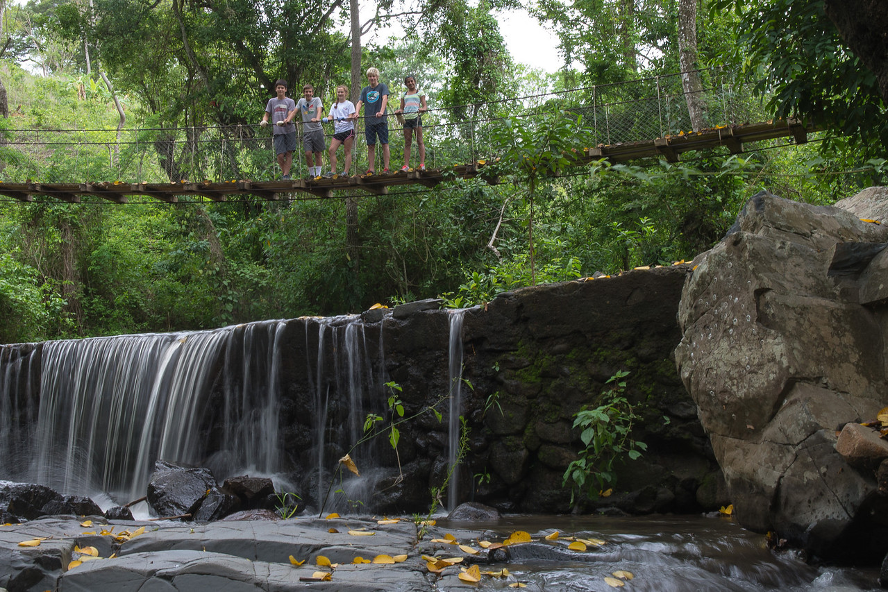 Local waterfall and bridge.
