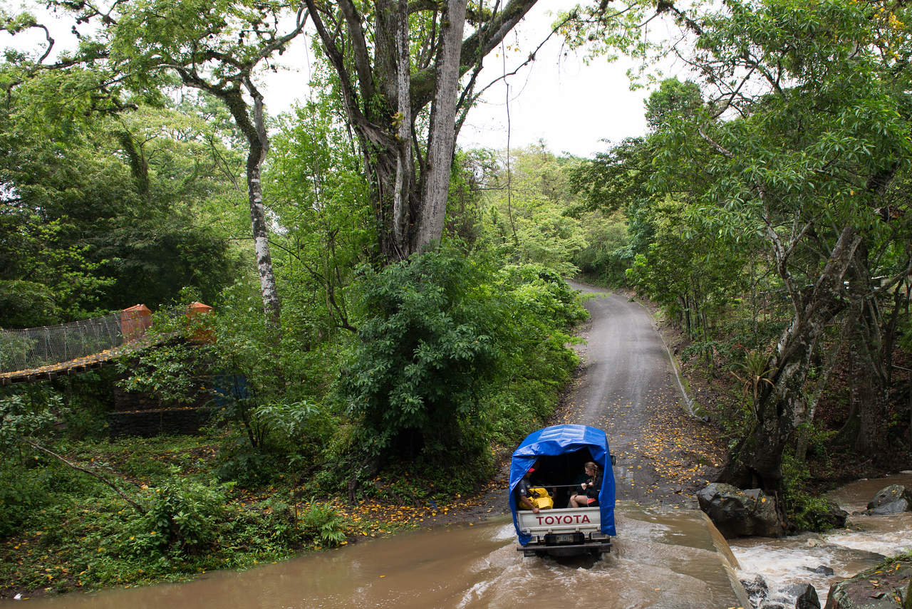Crossing a creek on the way back from Guadalupe Arriba.