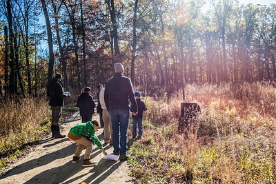 Cub Scouts Hike into the sun