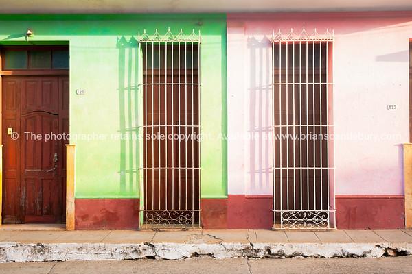 three doors and saafety grillson street in Cuba.