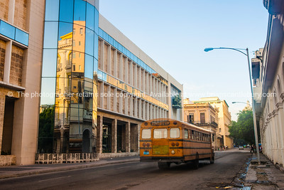 Street scene, school bus, Havana, Cuba. (1 of 1)