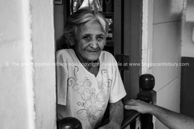 Maria, one of the originals at La Moka. Monochrome. Cuba,  Prints & downloads. Model release; no.                also see; www.blurb.com/b/3586795-cuba