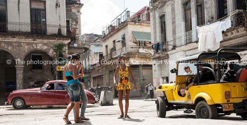 """Cuba, Havana, street scene.<br /> Prints & downloads.                also see;  <a href=""""http://www.blurb.com/b/3586795-cuba"""">http://www.blurb.com/b/3586795-cuba</a>"""