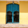 "Cuba, Trinidad, street scene.Blue door  and windows and yellow wall.<br /> Prints & downloads.                also see;  <a href=""http://www.blurb.com/b/3586795-cuba"">http://www.blurb.com/b/3586795-cuba</a>"
