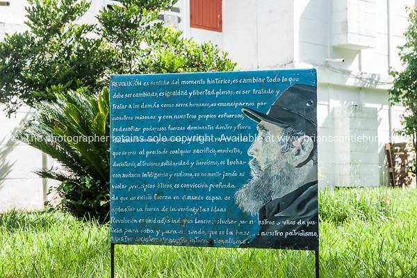 """Revolutionary, propaganda signs around the accomodation buildings at La Moka. Cuba.<br /> Boats at Casa de Botes, La Moka.<br /> Prints & downloads.                also see;  <a href=""""http://www.blurb.com/b/3586795-cuba"""">http://www.blurb.com/b/3586795-cuba</a>"""