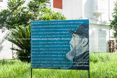 Revolutionary, propaganda signs around the accomodation buildings at La Moka. Cuba. Boats at Casa de Botes, La Moka. Prints & downloads.                also see; www.blurb.com/b/3586795-cuba