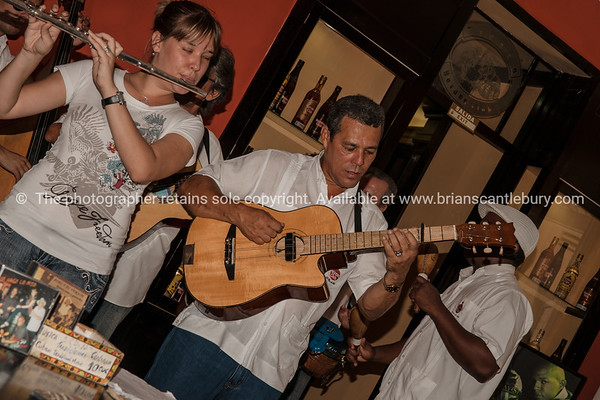 performers in the Havana Club cafe.