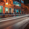 Paseo de Marti, night street scene in Havana.