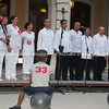 "Choir taking part in 2012 International Choral Competitions, Havana, Cuba, being watched by boy stiing on ball the the Viejos Square<br /> <br /> Prints & downloads.<br /> Model release; no.                also see;  <a href=""http://www.blurb.com/b/3586795-cuba"">http://www.blurb.com/b/3586795-cuba</a>"