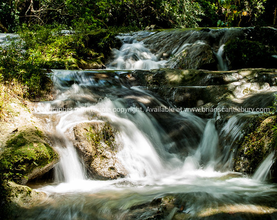 """Watefall not far from La Moka village. Refreshing in the afternoon heat, Baños del rio San Juan are a must. A few km's before Las Terrazas<br /> Prints & downloads.                also see;  <a href=""""http://www.blurb.com/b/3586795-cuba"""">http://www.blurb.com/b/3586795-cuba</a>"""
