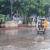 Havana street scene, when it rains.