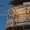 "Cuba, Trinidad, street scene. Old wooden scaffolding and the power lines seem to mix in a dangerous looking work and safety cocktail.<br /> Prints & downloads.                also see;  <a href=""http://www.blurb.com/b/3586795-cuba"">http://www.blurb.com/b/3586795-cuba</a>"